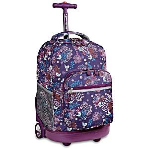 Универсальный школьный рюкзак на колесах JWORLD Sunrise арт. RBS18 Птички