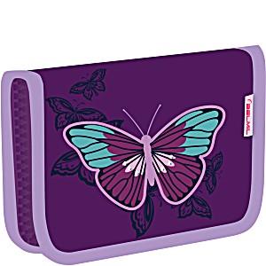 Школьный пенал для девочки Belmil с бабочкой 335 72 Butterfly